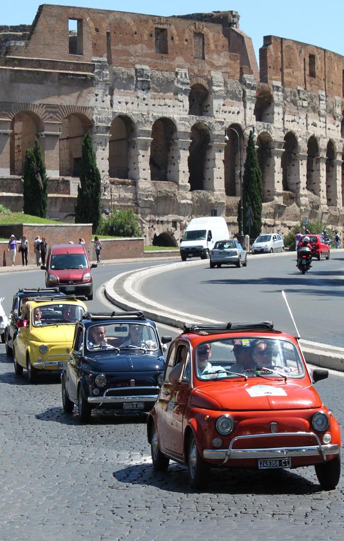 Fiat 500 Tour Rome bedrijfsuitje box